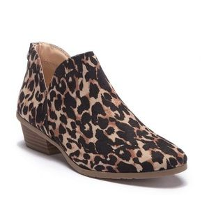 Kenneth Cole Reaction Leopard Print Ankle Bootie